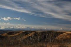 Grasland-Himmel im Winter Lizenzfreie Stockbilder