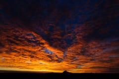 Grasland-Sonnenaufgang Lizenzfreies Stockfoto