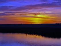 Grasland-Sonnenaufgang Stockfoto