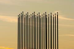 Grasland-Wind-Grenzstein in Saskatoon, Kanada stockfotos