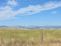 Grasland zu den Bergen stockbilder