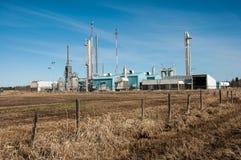 Graslandgasanlage Stockfoto