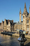The Graslei. Ghent. Belgium Royalty Free Stock Photo