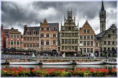 Grasleikade in Gent, België stock foto's