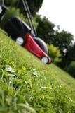 Grasmaaier op gras Royalty-vrije Stock Fotografie