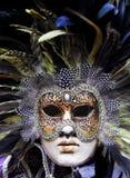 Grasmasker van Mardi van Venetië Stock Foto