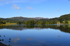 Grasmere湖在湖区英国 库存照片