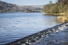 Grasmere湖在湖区, Cumbria,英国 库存图片
