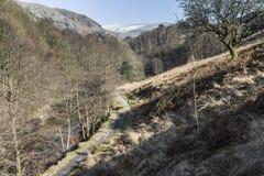 从Grasmere的道路到Rydal水在湖区, Cumbria,英国 免版税图库摄影