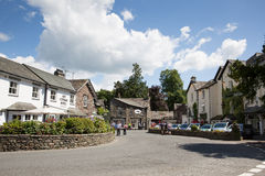 Grasmere του χωριού Cumbria UK δημοφιλές τουριστών εθνικό πάρκο περιοχής λιμνών τόπου προορισμού αγγλικό Στοκ Φωτογραφία