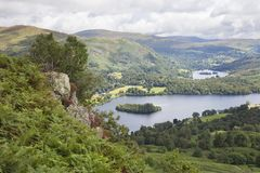 Grasmere, Cumbria. View over Grasmere from Silver Howe, the Lake District, Cumbria, England Royalty Free Stock Photos