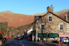 Grasmere by, engelskt sjöområde, Cumbria Fotografering för Bildbyråer