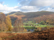 Grasmere et le Rydal abat Photos stock
