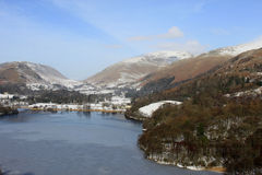 Grasmere and Helvellyn from Loughrigg Terrace, UK Royalty Free Stock Photo