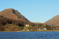 Grasmere i steru Crag, Angielski Jeziorny okręg obraz royalty free