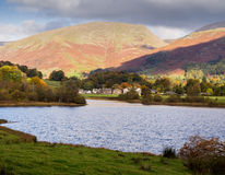 Grasmere lake. Autumn colours at Grasmere Lake, Grasmere, Cumbria, UK Royalty Free Stock Image