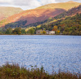 Grasmere lake. Autumn colours at Grasmere Lake, Grasmere, Cumbria, UK Stock Photo