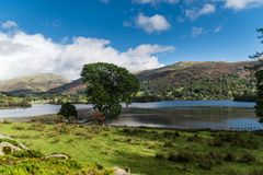 Panorama of Grasmere Lake and surrounding fells Stock Photos
