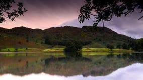 Grasmere Lake. Sunset at Grasmere Lake, Lake District Stock Photos