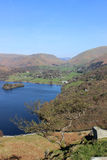 Grasmere lake and village Loughrigg Lake District Stock Image
