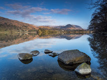 Grasmere Rocks and Reflections Royalty Free Stock Images