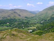 Grasmere seen from Loughrigg Fell Royalty Free Stock Photography