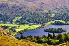 Grasmere from Silver Howe Royalty Free Stock Images