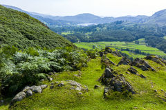 Grasmere. View of Grasmere from the hills leading up to Helm Crag, Lake District; Cumbria; UK Stock Photography