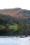 Grasmere weir in the English Lake District. In late Autumn Royalty Free Stock Image