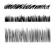 Grasrasenvektor-Schattenbildsatz Stockfotos