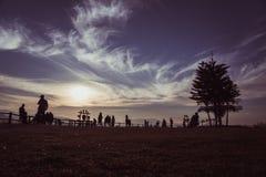 Grasrijke de dageraadkoude van de heuveltop Stock Afbeelding
