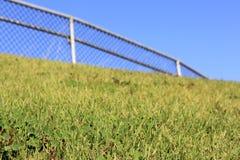 Grasrijke Heuvel met zachte nadrukomheining Stock Afbeelding
