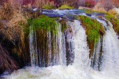 Grasrijke waterval Stock Afbeelding