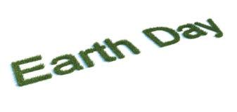 grass做的地球日类型 库存图片