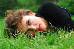 On a grass Royalty Free Stock Photo