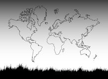 Grass. Designed using illustrator with world map Stock Photos