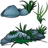 Grass. Set H - colored cartoon illustration as vector Royalty Free Stock Photography