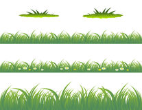 Grass. Vector illustration of grass patterns Royalty Free Stock Photos