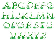 Grass alphabet Stock Photos