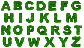 Grass alphabet Stock Images