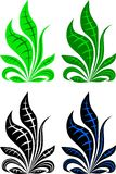Grass array vector illustrations Royalty Free Stock Photo