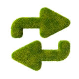 Grass arrows in cycle. See my other works in portfolio stock illustration
