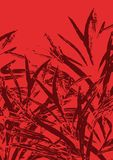 Grass background on red Stock Images