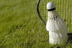 Grass and badminton Royalty Free Stock Photos