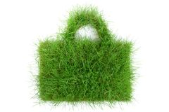 Grass Bag on white Background royalty free stock image