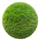 Grass ball 3D illustration Stock Photography