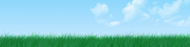 Grass banner royalty free stock image