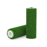 Grass battery concept Royalty Free Stock Images