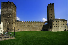 In the grass of bellinzona switzerlan Stock Images