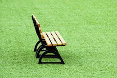 Grass bench Stock Photo